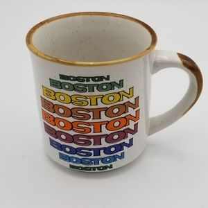 Vintage Boston Boston White Mug